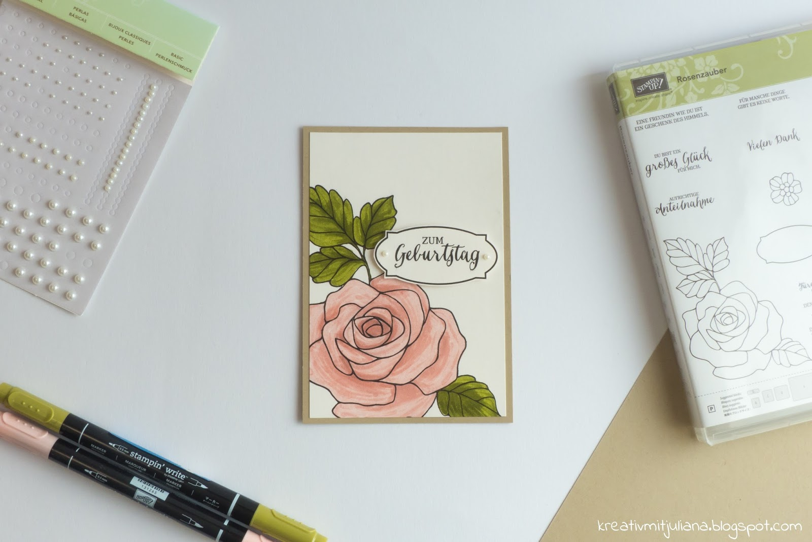 Kreativ mit Juliana: Geburtstagskarte \