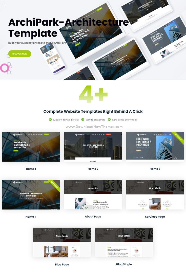 Best Architecture & Interior Design Bootstrap Template