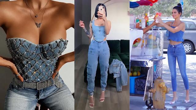 Como usar cropped jeans com calça