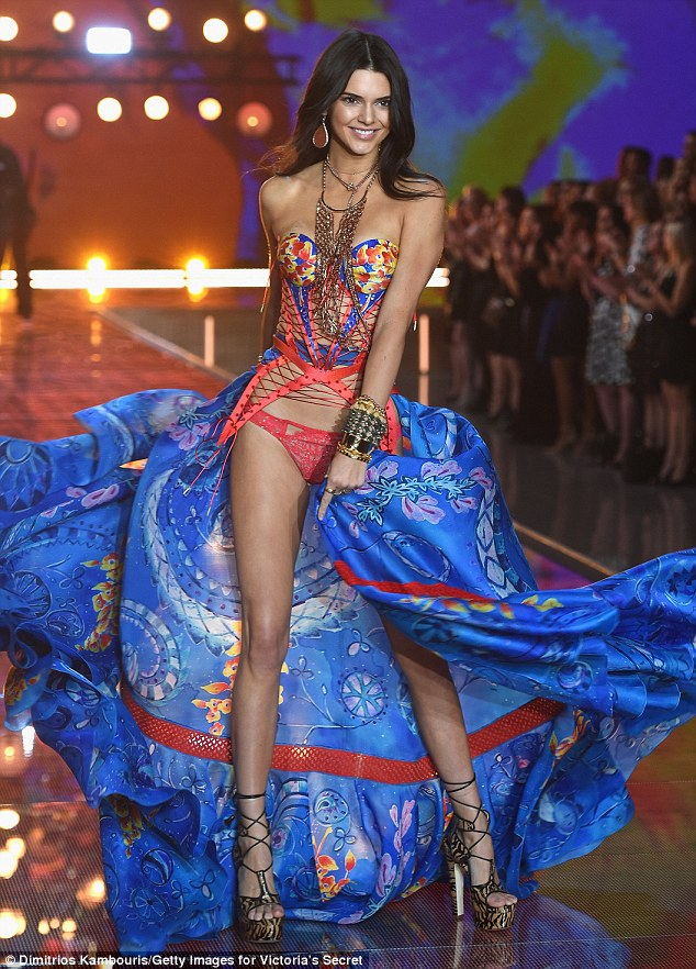 Kendall Jenner smoulders on the Victoria's Secret Runway 2015