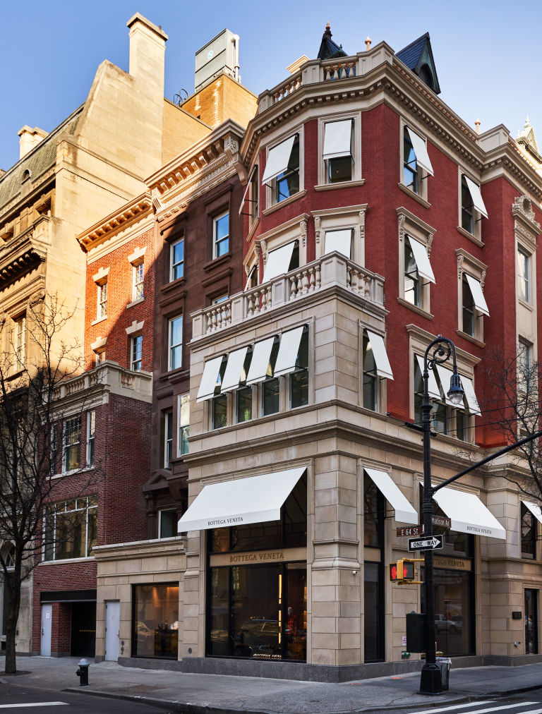 Bottega Veneta's the five-floor store occupies half of a block on Madison Avenue.