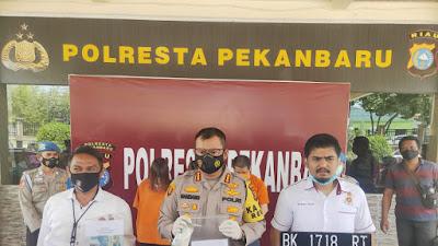 Polresta Pekanbaru Ringkus Tiga Pelaku Sindikat Penipuan Modus Hipnotis Antar Provinsi, Satu DPO
