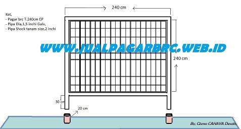 Gmbar Pintu Pagar PAGAR BRC Customs Design