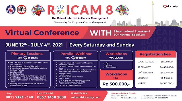 """Webinar and Workshops ROICAM 8 The Role of Internist in Cancer Management """"Overcoming Challenges in Cancer Management"""""""