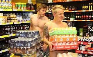 No Pants, No Shirt: Free Groceries - NSFW