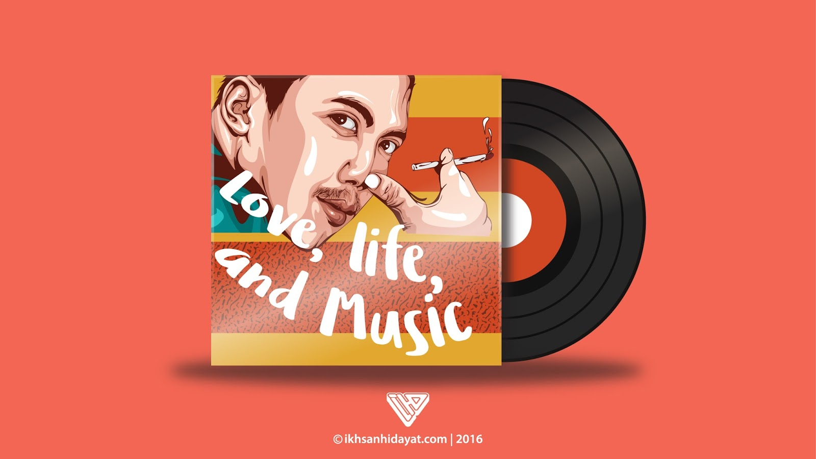 creating vinyl record - illustrator tutorials for beginners | ikhsan