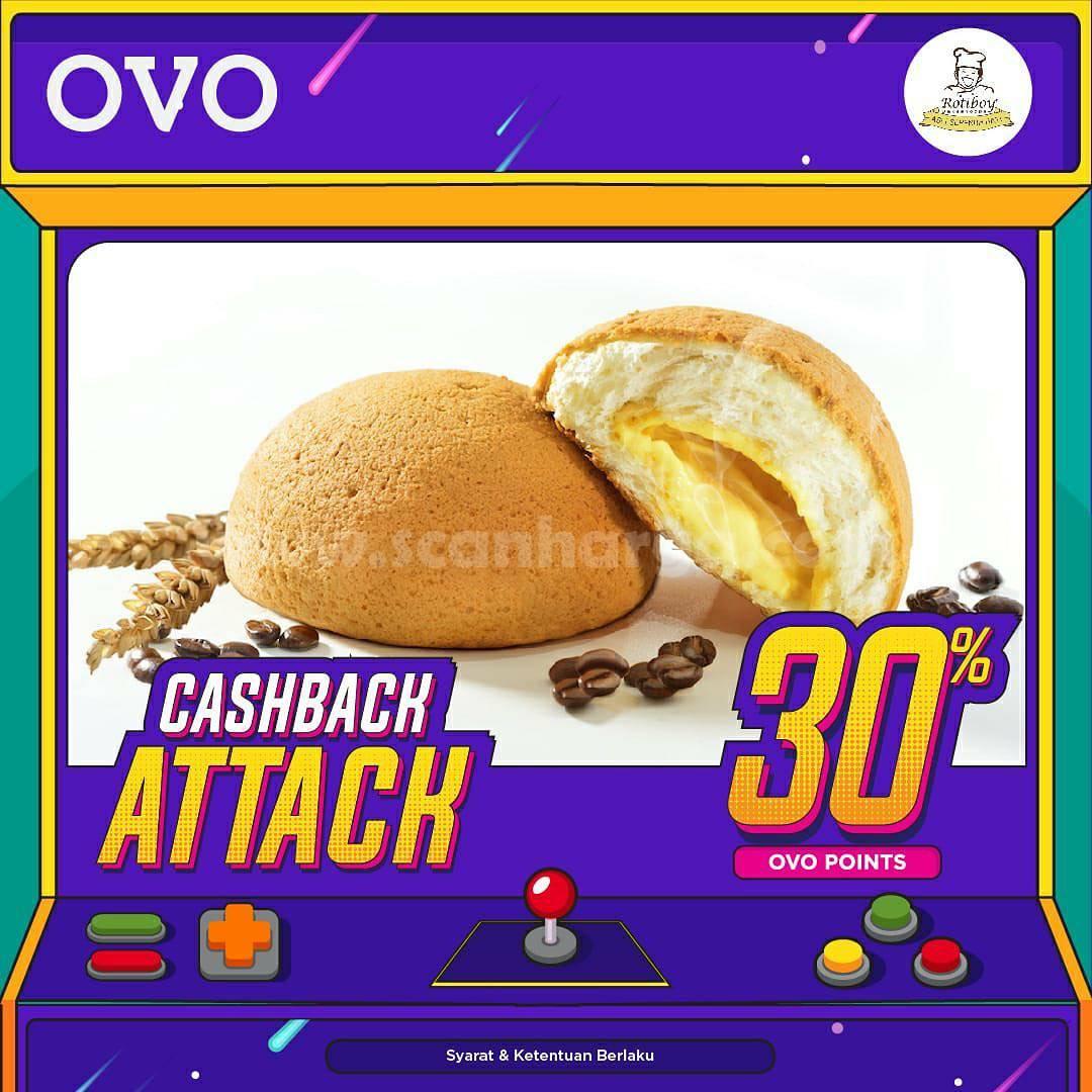 Promo ROTIBOY OVO CASHBACK ATTACK 30% dengan OVO Points