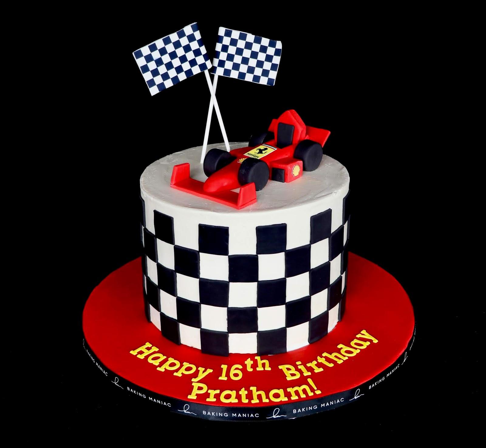 Magnificent Baking Maniac Ferrari 16Th Birthday Cake Funny Birthday Cards Online Aboleapandamsfinfo