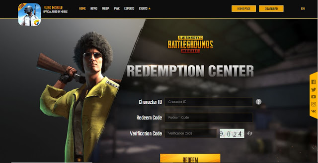 Pubg mobile redeem codes today