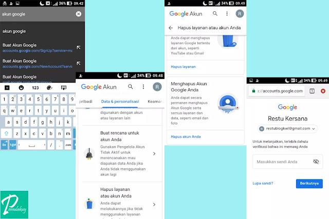 Cara Mengapus Akun Gmail Lewat Android Permanen