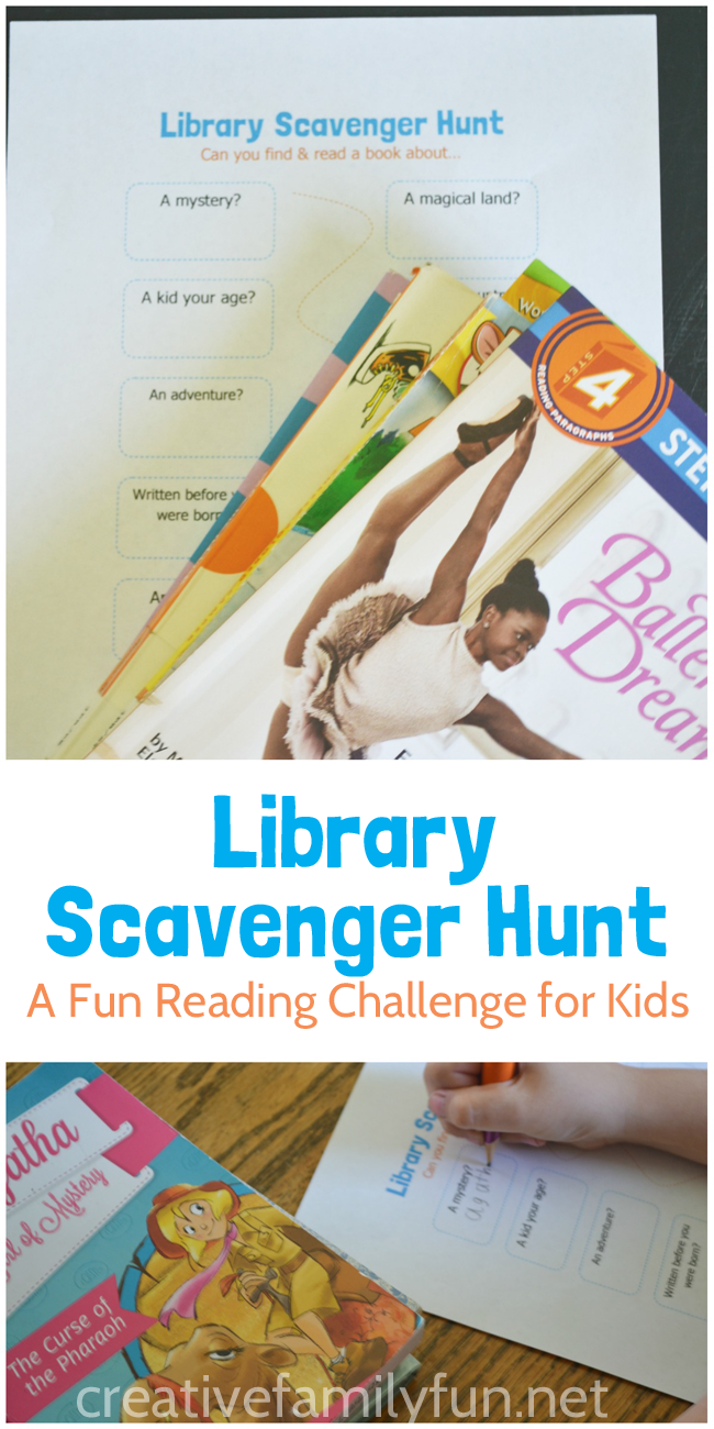 Make your summer reading fun by reading your way through this library scavenger hunt for kids. (With free printable!)