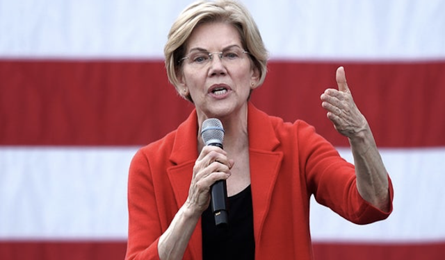 Warren rises to second in California poll