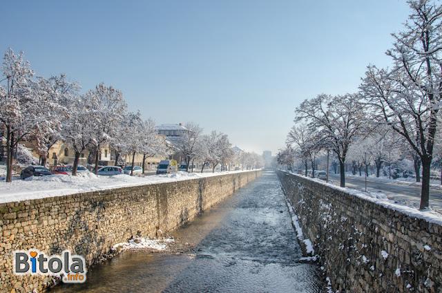 Dragor River, Bitola, Macedonia - 27.01.2019