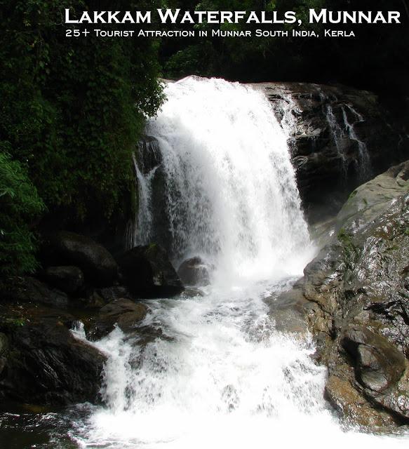 Munnar Attractions : Lakkam Waterfalls Munnar