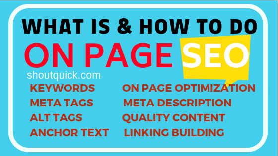 On Page SEO: How to Optimize website for Google Search