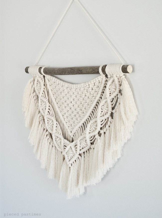 Solitude - A Small Macrame Wall Hanging at Pieced Pastimes