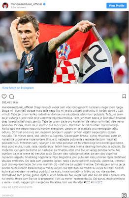 Mario Mandzukic retires internationally