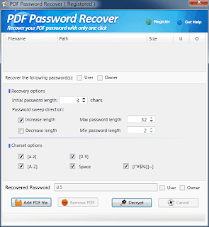 PDF Password Recover full, PDF Password Recover lizenz, PDF Password Recover activation key