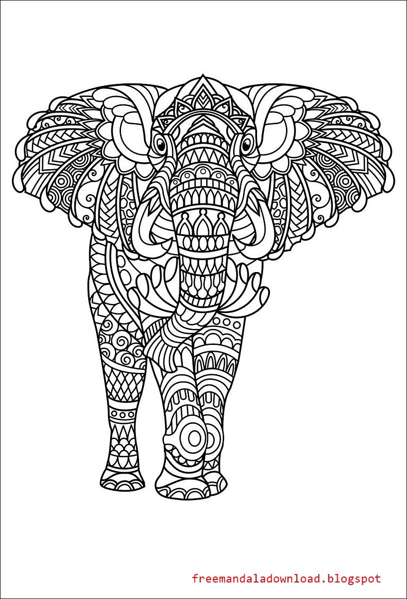 elefant mandala download  free mandala