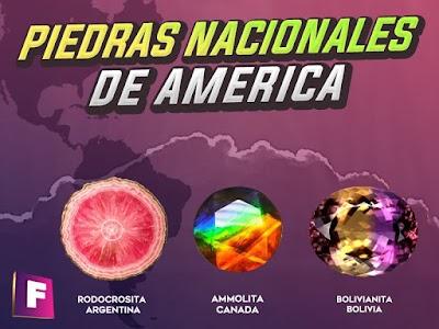 Piedras nacionales de america II - Los tesoros del continente americano