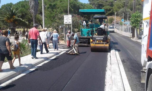 Ερμιονίδα: Συνεχίζονται οι εργασίες ασφαλτοστρώσεων στην Κόστα