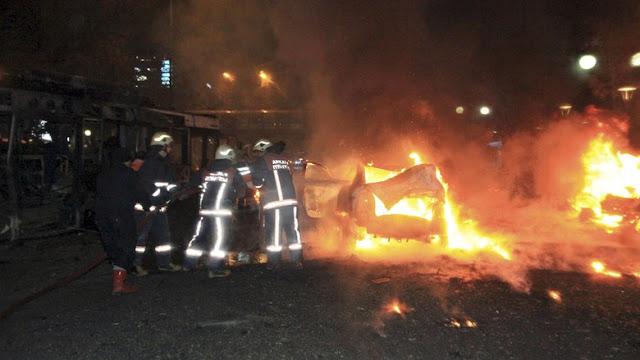 Bom Mobil Guncang Ankara - Turki, 34 Tewas