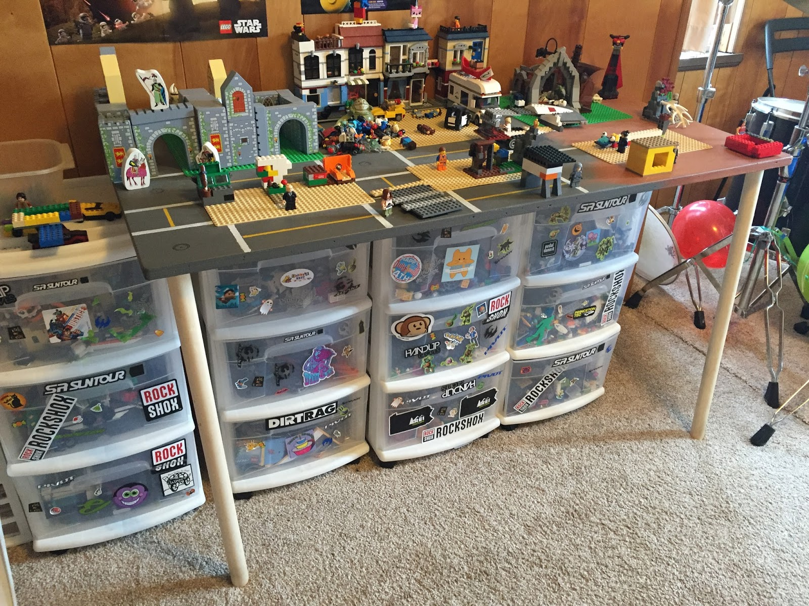 Delicieux Custom Lego Table Kids Room