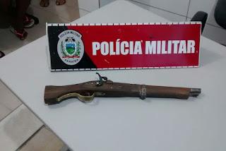 Polícia Militar apreende adolescentes com arma de fogo artesanal