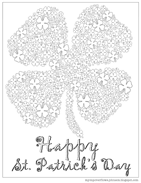 Free St. Patrick's Day coloring pages