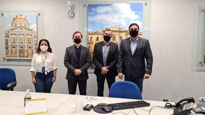 No Recife, Marconi assina convênio e participa de reunião com gestores do Banco do Brasil
