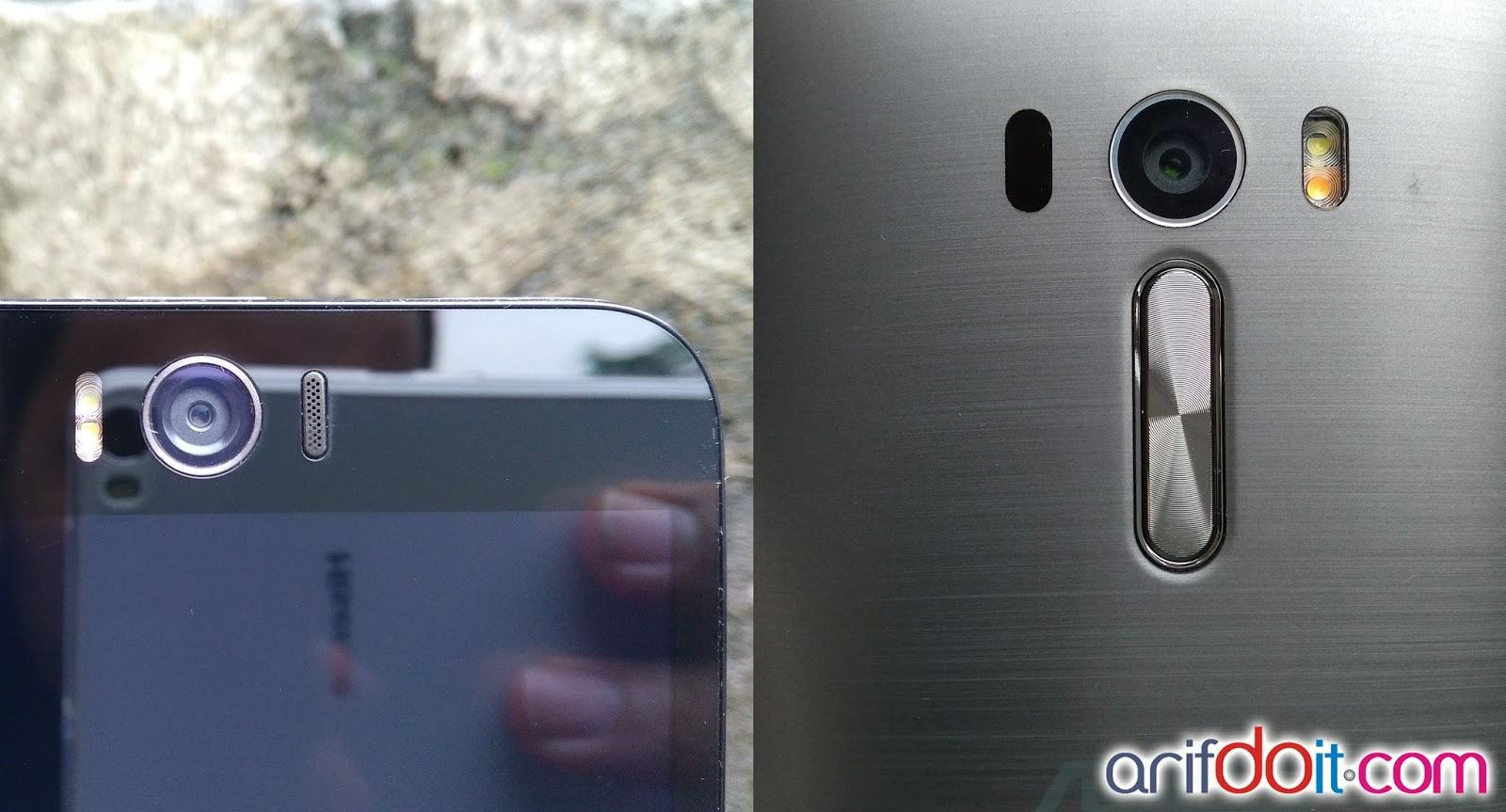 Kamera Depan dan Belakang Asus Zenfone 2 Selfie