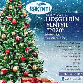 Rakıntı Balık Restaurant Ankara Yılbaşı Programı 2020 Menüsü
