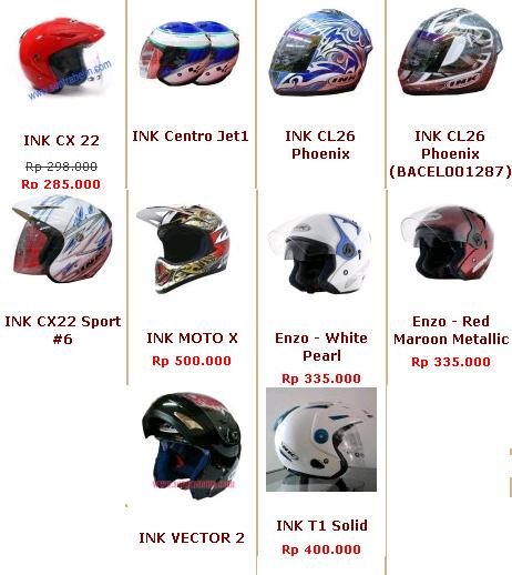 Daftar Harga Helm Ink Half Face Oktober 2018 620 X 160 Sepeda Cross Wimcycle