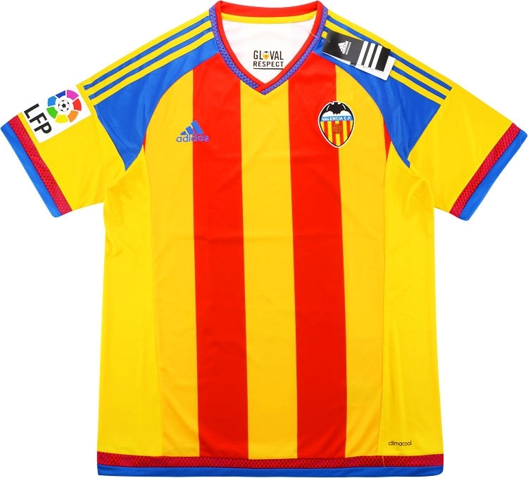 6a36f419468 2015-16 Valencia Away Shirt. The colours match the club crest which is  derived from the coat of arms of the city.