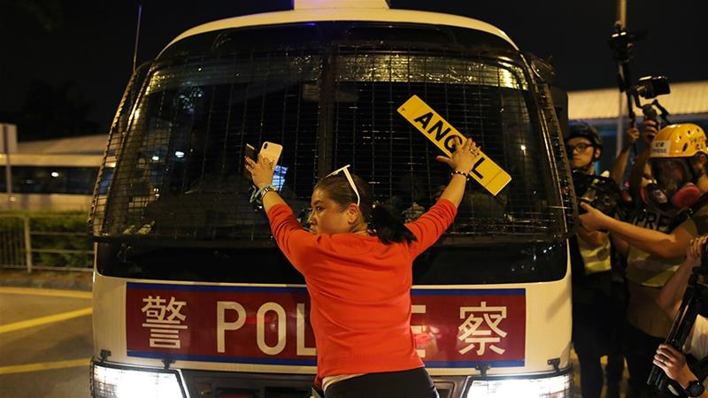 Hong Kong court bans protesters from police housing areas