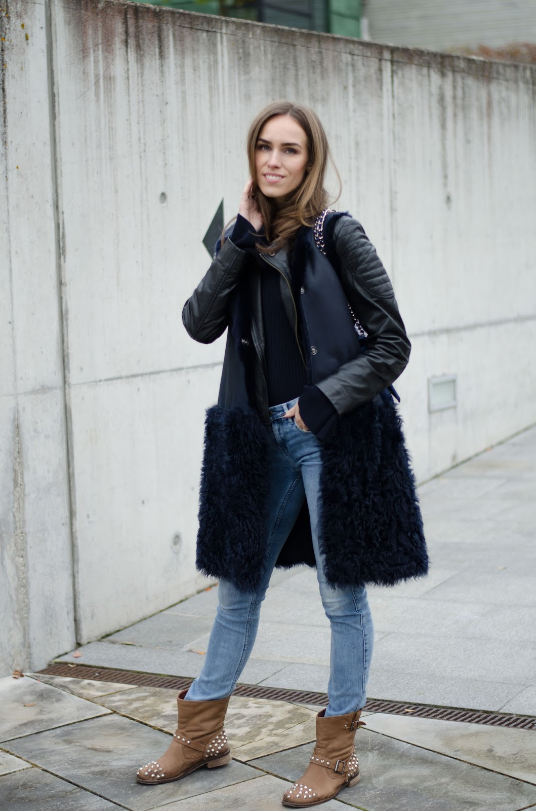 shearling jacket fall fashion