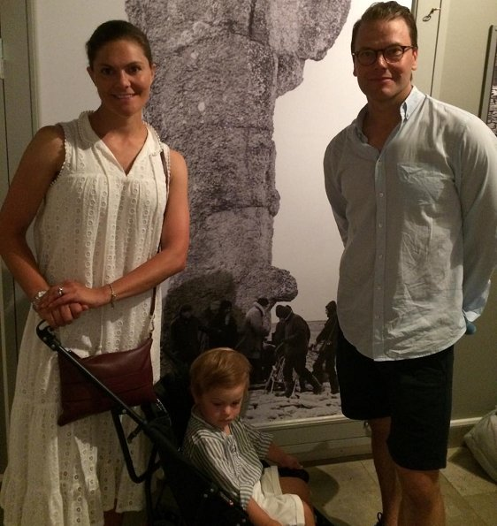 Crown Princess Victoria, Prince Daniel and their children Princess Estelle and Prince Oscar on holiday in Fårö