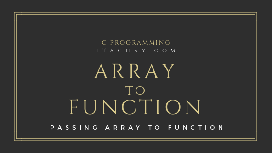 Passing Array to Function