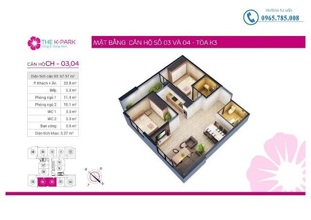 Thiết kế căn hộ 03 & 04