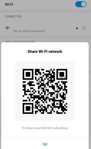 connect any WiFi network without a password the QR code