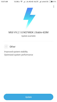 Xiaomi Redmi Note 4 Update