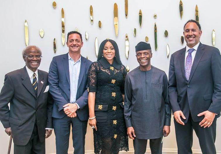 VP, Yemi Osinbajo visit Hollywood accompanied by 2face Idibia, Mo Abudu and others