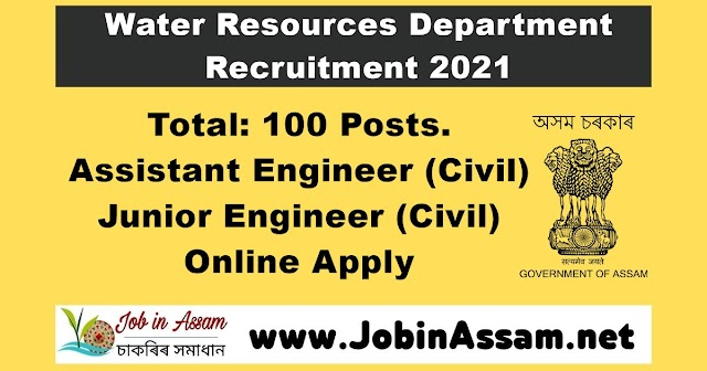 Water Resources Department Recruitment 2021 – Total Post: 100. Online Apply