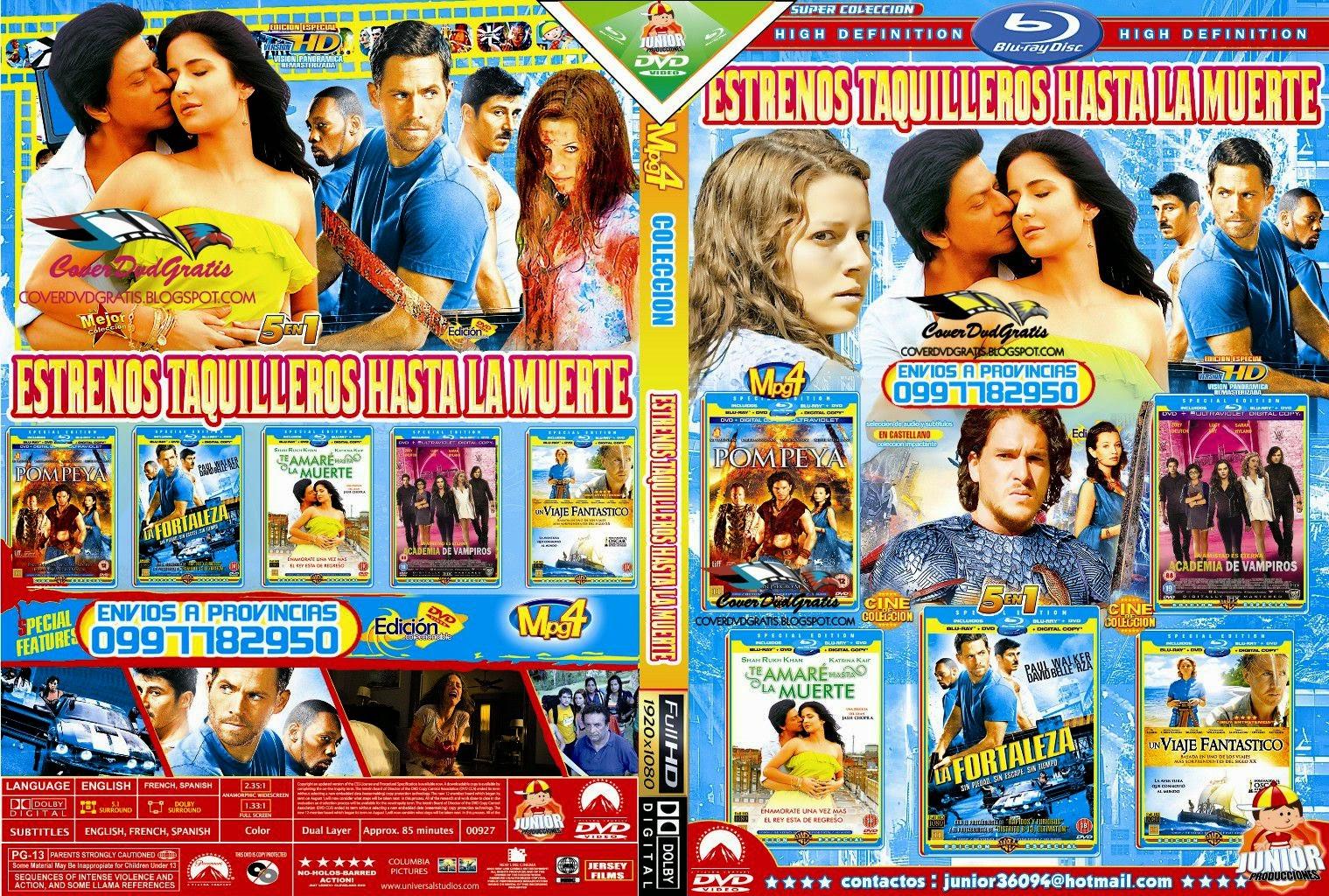 estrenos taquilleros hasta la muerte dvd cover pack  💲🥇