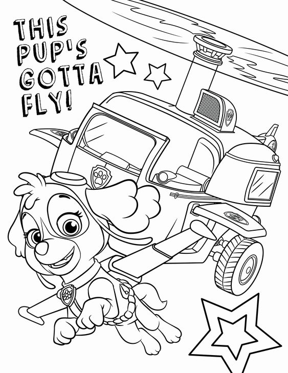 Paw patrol coloring pages 2