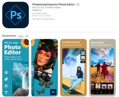 Screenshot of Adobe Photoshop App
