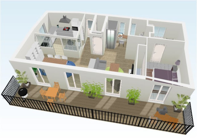 3D House Plants Designs Models, Bottom Floor, Projects