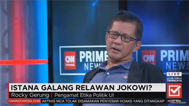 Rocky Gerung: Jokowi Kemampuannya Sangat Terbatas, gak Paham Apa yang Terjadi