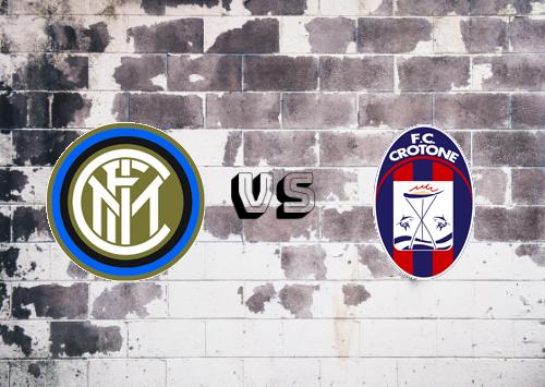 Internazionale vs Crotone  Resumen y Partido Completo