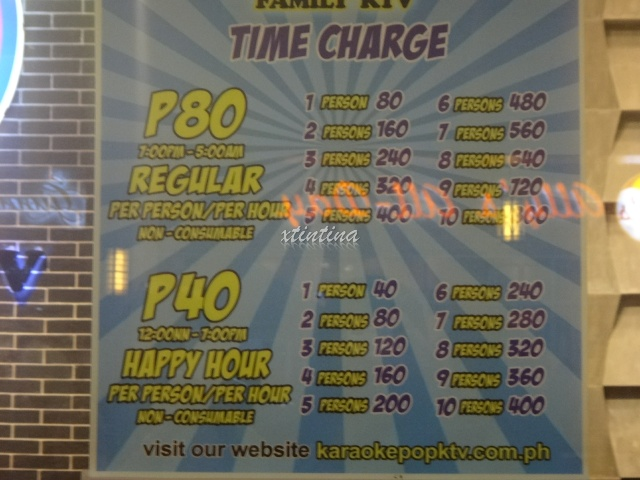 Karaoke Pop Cubao Rate